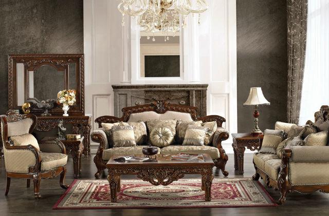 soggiorno in stile vittoriano