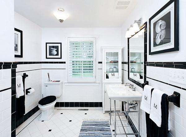 Bagni di bianco e nero eleganza senza tempo - Bagno bianco e nero ...
