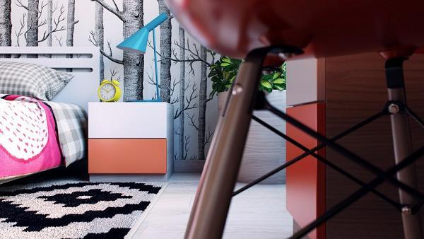 Camerette per i bambini dal design fresco e colorato