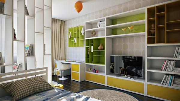 Anche in questo caso la scelta e le tonalità dei colori danno carattere alla camera