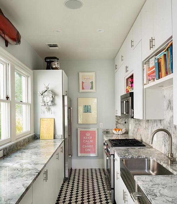 Alcune idee decorative per una piccola e stretta cucina