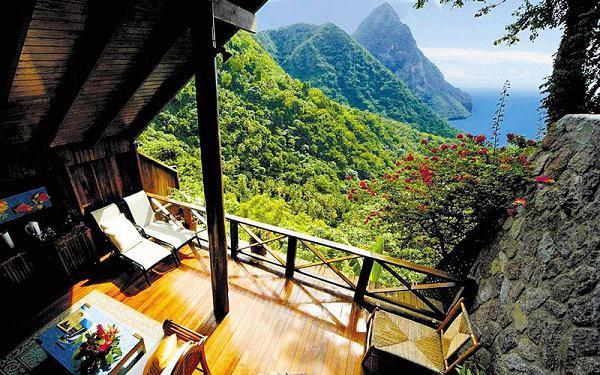 Panorama dal Ladera Resort, St. Lucia