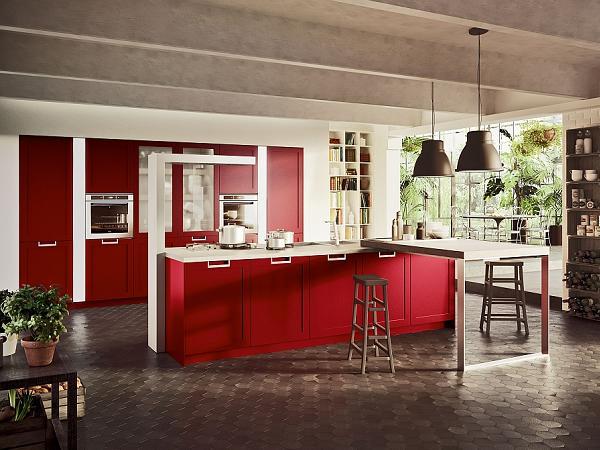 Avete mai visto una cucina bianco-rossa? Non male, no?!