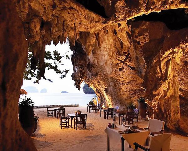 Il ristorante del Rayavadee Krabi, Tailandia