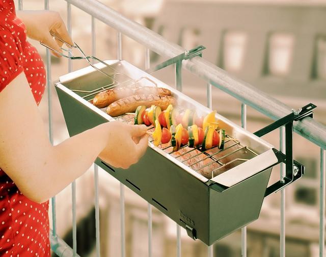Il mini barbecue da balcone