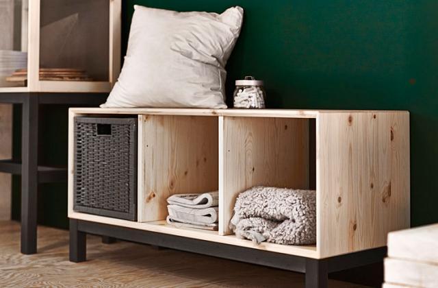 Panca Contenitore Ikea : Panca in legno con contenitori pagina di