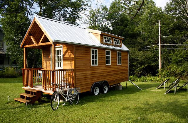 La casa ecologica e mobile, su ruote