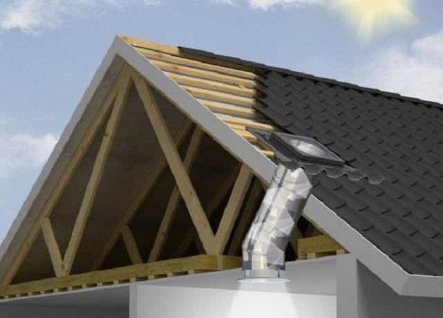 Tubo solare per illuminazione naturale in casa