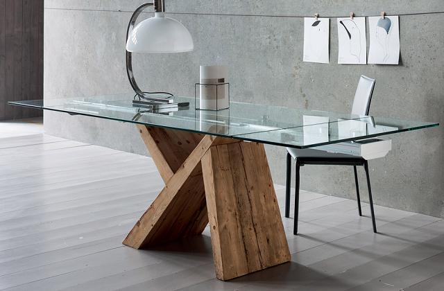 Tavolo di design fisso o allungabile - Tavoli di design in cristallo ...