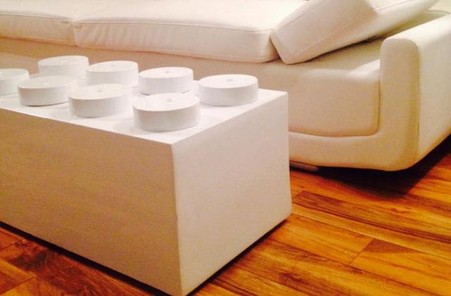 Tavolino da salotto a forma di mattoncino LEGO