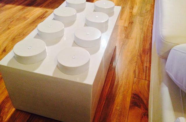 Tavolino Salotto Verde : Tavolino da salotto a forma di mattoncino lego