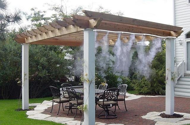 Impianto nebulizzatori per gazebo e terrazzi