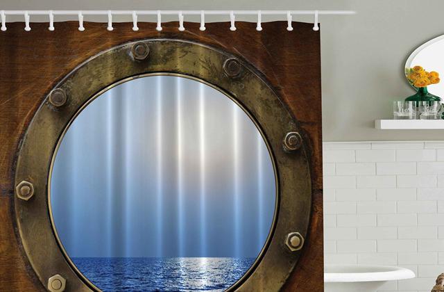 Ship Porthole Shower