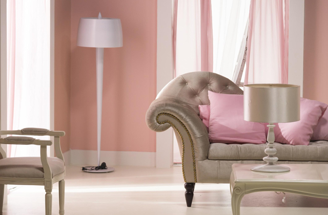 arredamento rosa grigio
