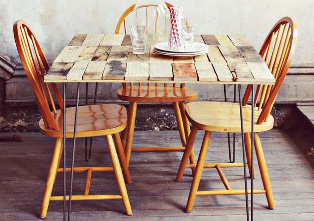 tavolo con bancali