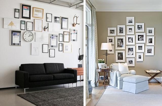 Come appendere quadri e cornici senza crivellare la for Idee per appendere foto
