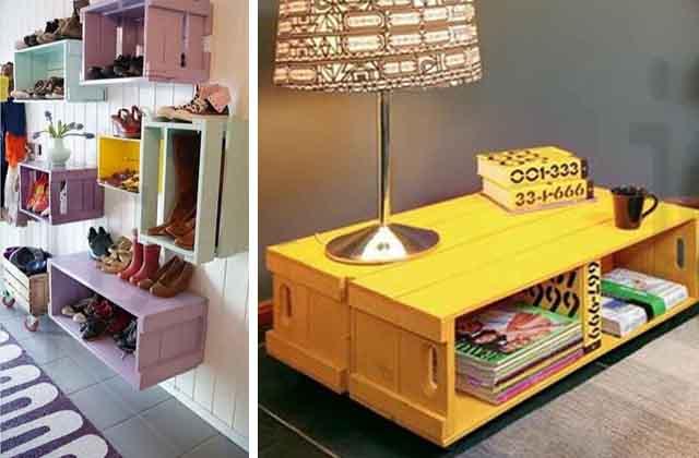 Mobili Fai Da Te Con Cassette Della Frutta : Come sfruttare le cassette di legno per la frutta per arredare