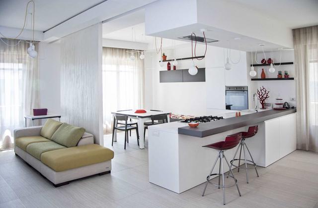Arredare una cucina a vista idee ed esempi di arredamento for Esempi di arredamento