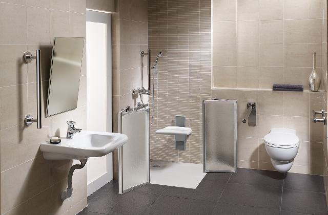 Come sistemare un bagno per disabili e anziani - Spazio minimo per un bagno ...