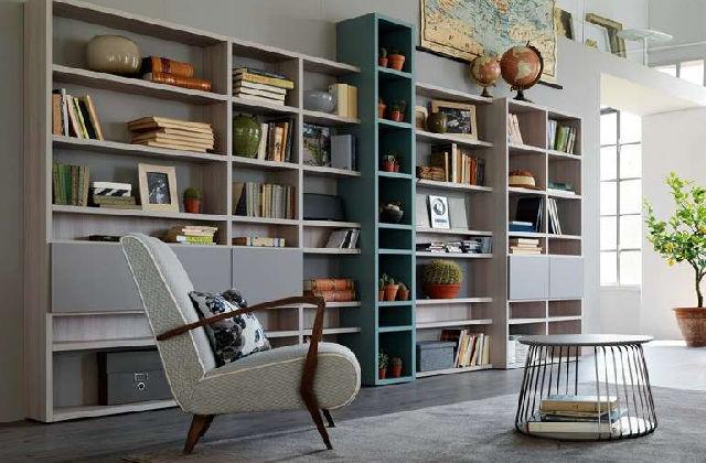 libreria in soggiorno