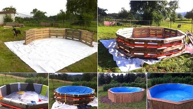 costruire una piscina con i pallet