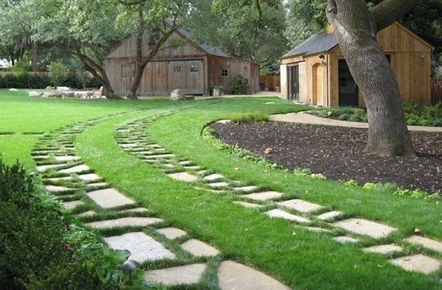 Fai da te vialetto in calcestruzzo per il tuo giardino - Pietre per vialetti da giardino ...