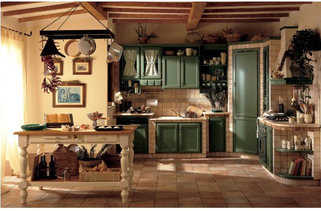 cucina rustica in finta muratura