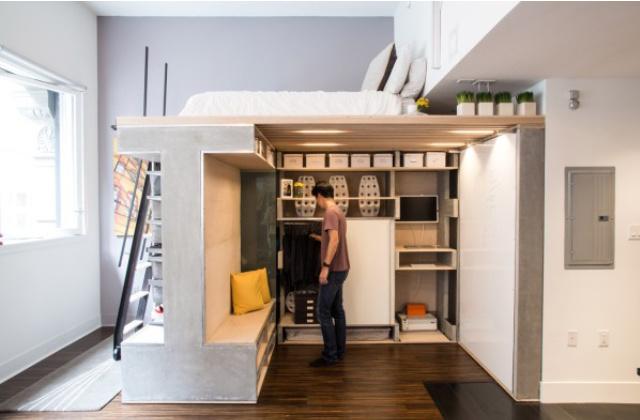 mobili a scomparsa in mini appartamento