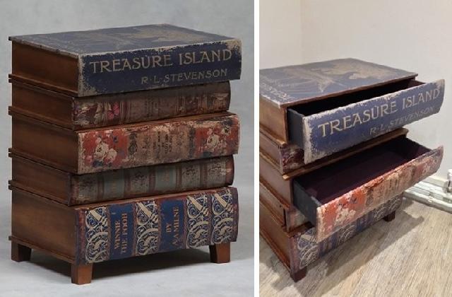 Finta Cassettiera Letto : La cassettiera libro adatta per chi dei libri non può proprio