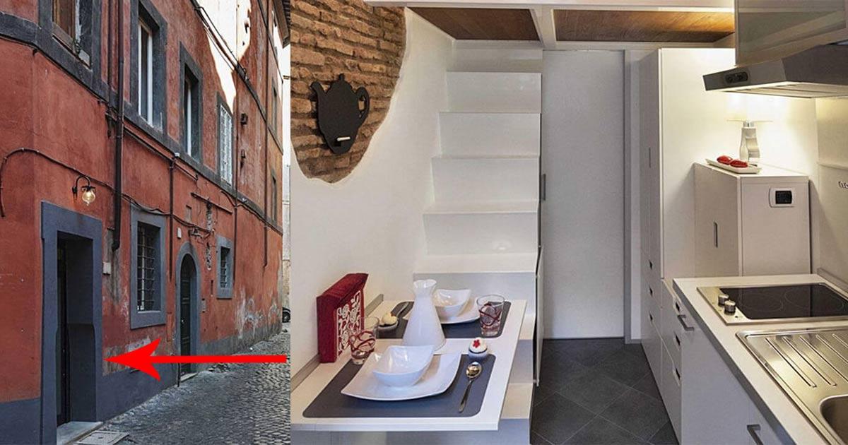 La casa pi piccola d 39 italia misura solo 7 metri quadrati - La piccola cucina milano ...
