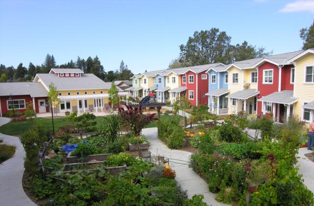 struttura di un villaggio in cohousing