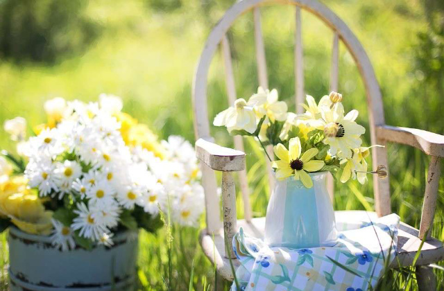 la casa a primavera