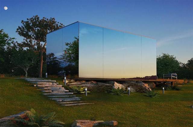 casa specchio a pianta modulare