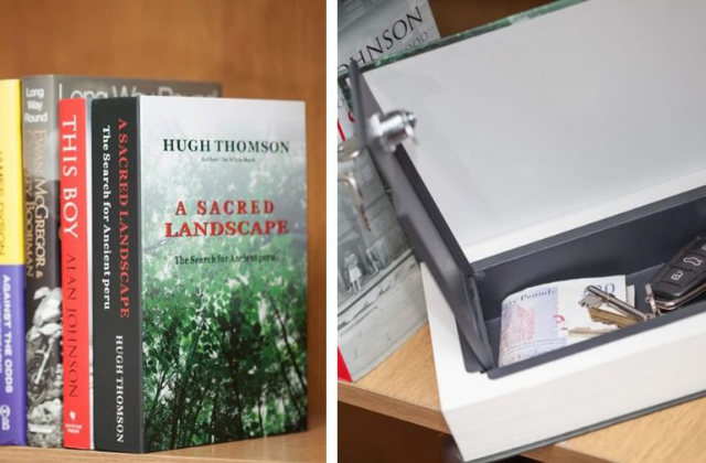 cassetta di sicurezza a forma di libro