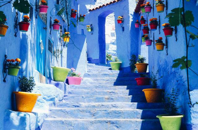 Case Blu Marocco : La perla blu del marocco: chefchaouen