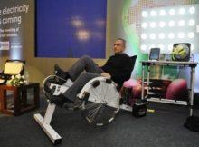 Elettricità gratis pedalando 1 ora!