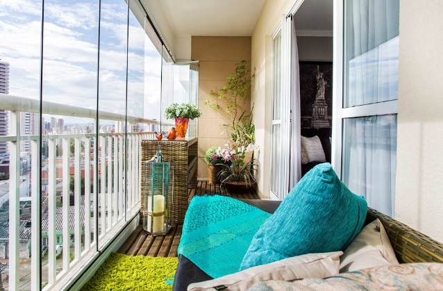 Arredare un balcone chiuso: foto e idee