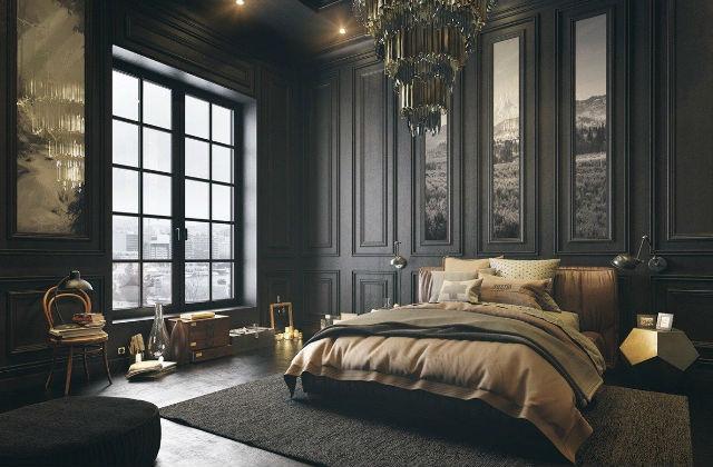 camera da letto dark