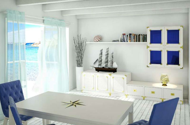 Stile marinaro per l 39 arredo di casa for Tessuti arredo stile marina