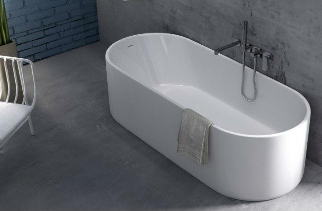 vasca da bagno in porcellana moderna